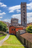 City landscape. Italian town of Lucca. — Stock Photo