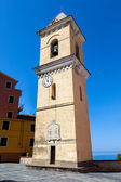 Ancient bell tower in Manarolla — Stock Photo
