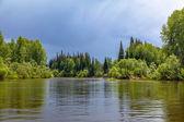 Chet river in the Tomsk region in western Siberia — Stock Photo