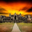 Angkor Wat at sunset. — Stock Photo