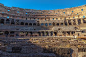 Interior Coliseum in Rome at sunset — Stock Photo
