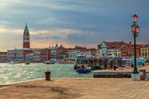 Sunset over Venice — Stockfoto