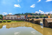 Florence. Landscape. In the foreground - Ponte alle Grazie — Foto Stock