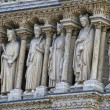 Notre-Dame de Paris Statues — Stock Photo