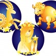 Signs of the Zodiac. — Stock Vector