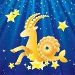 Zodiac - Capricorn. — Stock Vector