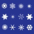 Stock Vector: Snowflakes.