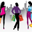 Royalty-Free Stock Vector Image: Women on shopping