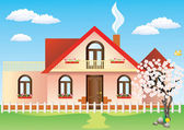 Cottage. — Stock Vector