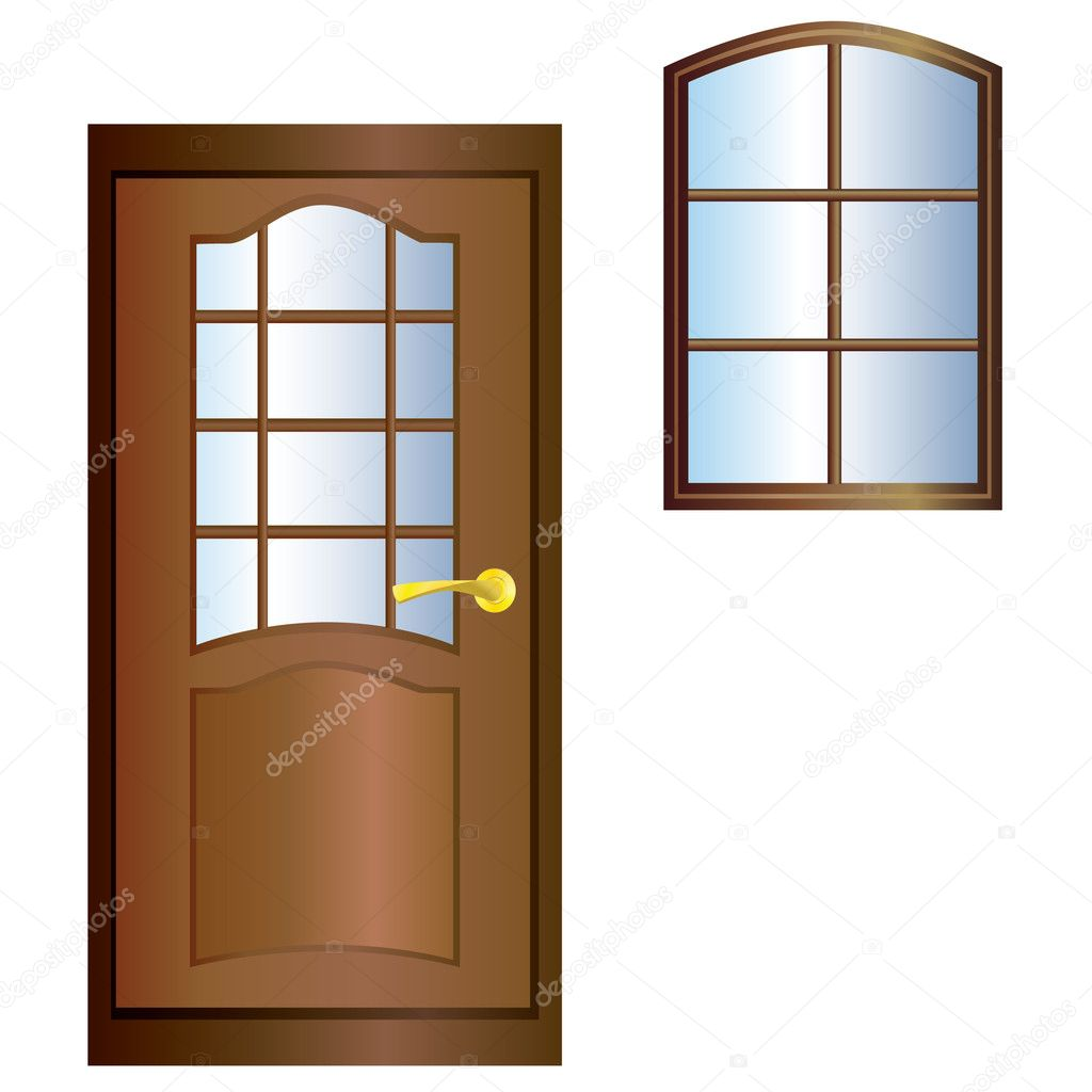 Door and window stock vector vikhr15 3924152 for The door and the window