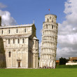 Leaning Tower of Pisa and Cathedral — Stock Photo