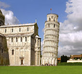 Leaning Tower of Pisa and Cathedral — Stok fotoğraf