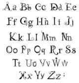 Gothic alphabet — Stock Vector