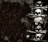 Os et des crânes humains — Photo