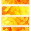Collection of autumn banners - Stock Photo