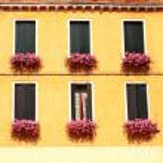 Windows with geranium — Stock Photo #14103206