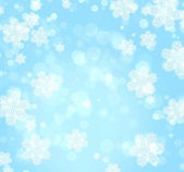Christmas background of blue color — Stock Photo