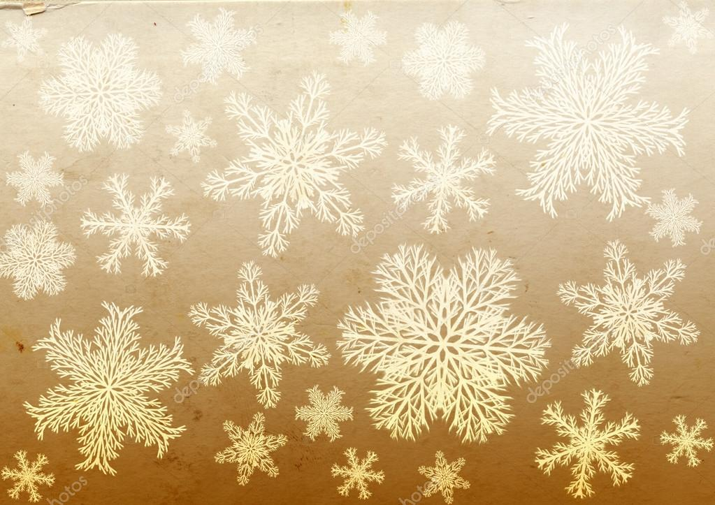 Christmas grunge background with snowflakes and paper texture — Stock fotografie #14766405