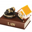 House and law — Stock Photo
