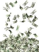 Dolarlık banknotlar uçan — Stok fotoğraf