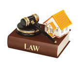 дом и закон — Стоковое фото