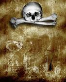 Insan kafatasları ve kemikleri — Stok fotoğraf