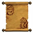 Sheet of ancient parchment — Stock Photo #1668678