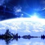 Landscape in fantasy planet — Stock Photo #16623599