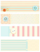Collection of vector banners in retro style — Stock Vector