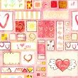 Stock Photo: Seamless valentine background