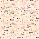 Seamless valentine background — Stock Photo