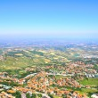 Beautiful Italian landscape. View from San Marino — Stock Photo