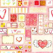 Walentynki bezszwowe tło — Zdjęcie stockowe