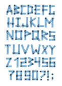 Alphabet - letters from a jeans fabric — Stockfoto