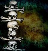 Huesos y cráneos humanos — Foto de Stock