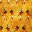 Seamless background with Egyptian gods images - Stok fotoğraf