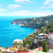 Panorama of Naples and Mediterranean sea — Stock Photo