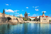 Charles bridge in Prague — Stok fotoğraf