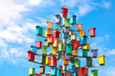 Colorful nesting boxes — Stock Photo