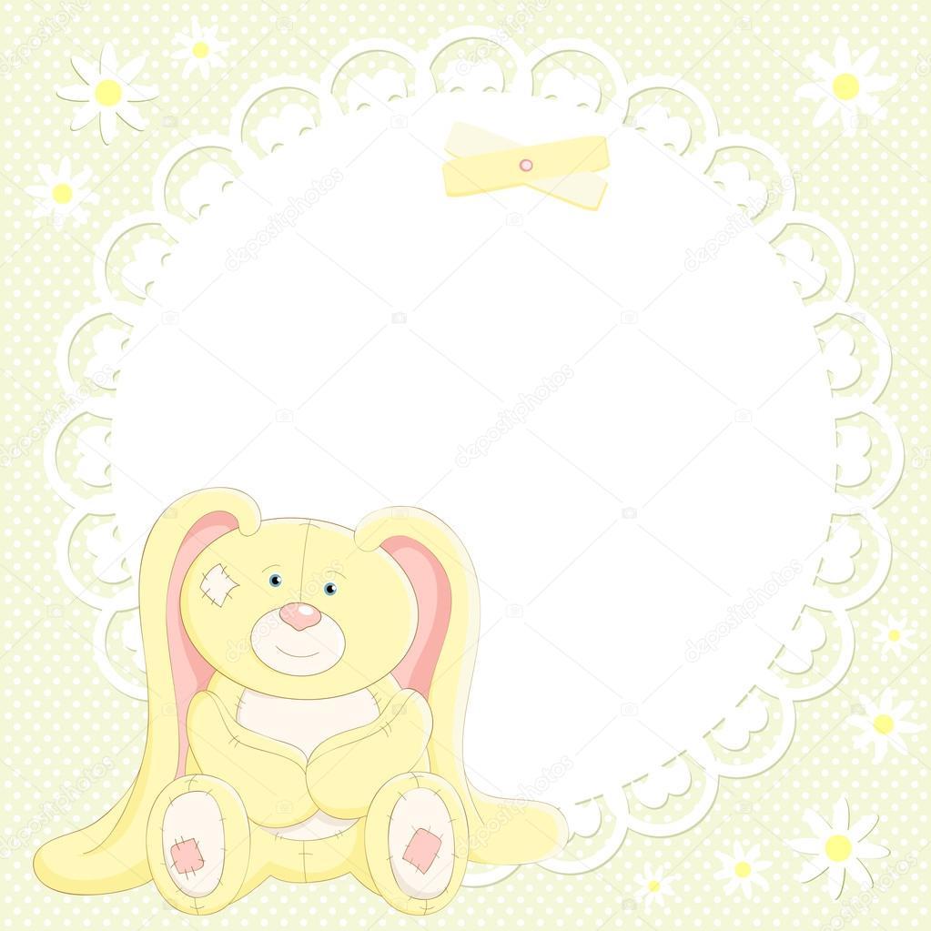 矢量背景与可爱的小兔子