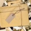 Old envelope with label — Stock Photo #24895169