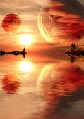 Fantasy-Sonnenuntergang — Stockfoto
