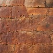 Rusty metal texture with rivets — Stock Photo #26752951