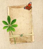 Staré karty na plátně — Stock fotografie