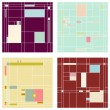 Set of vector seamless patterns — Imagen vectorial