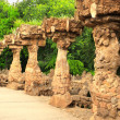 Stock Photo: Columns in park Guell, Barcelona