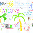 Vacations — Image vectorielle