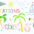 Vacations — Stockvectorbeeld
