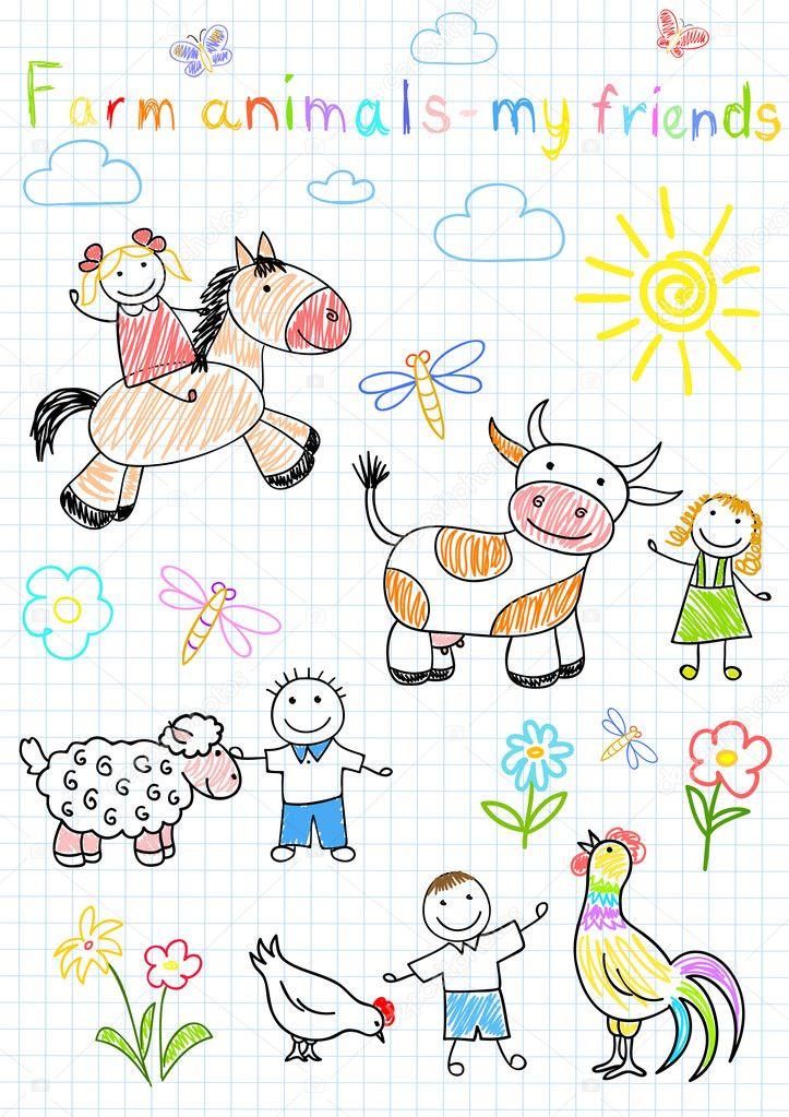 эскизы рисунков для детей: