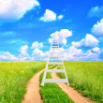 ladder in de hemel — Stockfoto